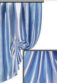 Ткань Блэкаут Полоса небесно-голубая