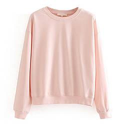 Свитшот женский Basic, розовый Berni Fashion (S)