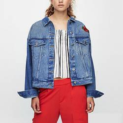 Куртка женская джинсовая с вышивкой Konichiwa Berni Fashion (S)