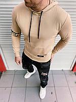 Батник худи свитшот кофта с капюшоном кенгурушка мужской брендовый копия реплика