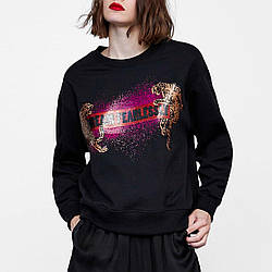 Свитшот женский oversize с принтом Dream fearlessly Berni Fashion (S)