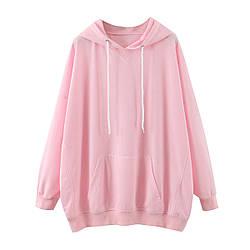Худи женское удлиненное Bloom, розовый Berni Fashion (S)