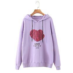 Худи женское oversize с принтом Love Berni Fashion (S)