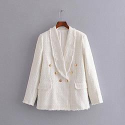 Блейзер женский из твидовой ткани Glory Berni Fashion (S)