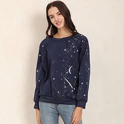 Свитшот женский утепленный с принтом Galaxy Berni Fashion (S)