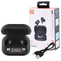 Бездротові вакуумні СЕНСОРНІ Bluetooth TWS навушники JBL BT011 з зарядним LED боксом СТЕРЕО в роздріб, фото 1