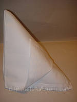 Салфетка тканевая сервировочная белая однотонная