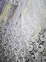 Тюль бархат белый Турция, фото 1