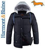 Куртки качественные молодежные Harmont&Blaine ч 34-8076 52, Темно-синий