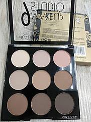 Палетка теней для век LA ROSA MAKEUP STUDIO Pretty is Nude 9 цветов LE-№ 01 Матовые Кремово-бежевые-коричневые