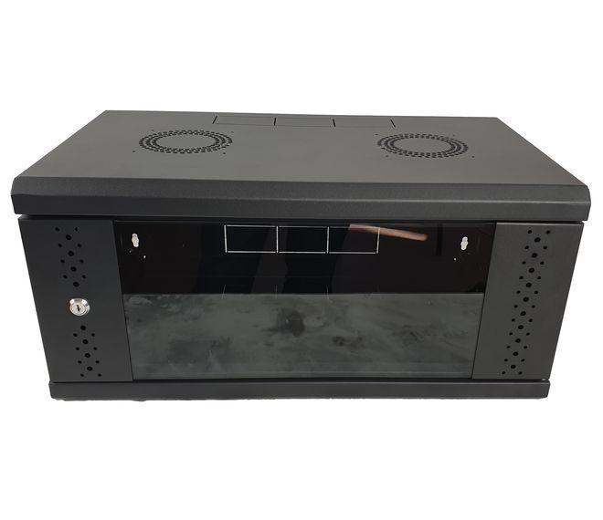Шкаф 4U, EServer 600х350х284 (Ш*Г*В), стекло, черный