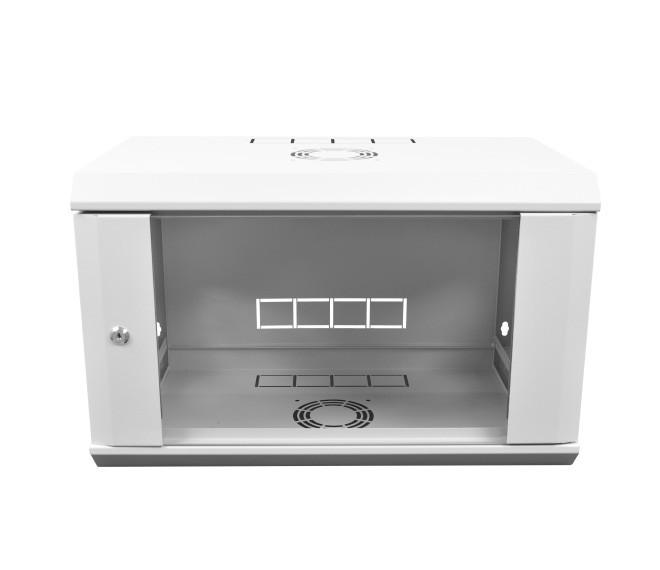 Настенный серверный шкаф 9U, 350, стекло, серый