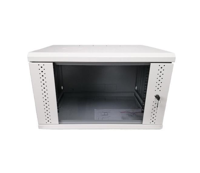 Шкаф 9U, EServer 600х500х503 (Ш*Г*В), стекло, серый