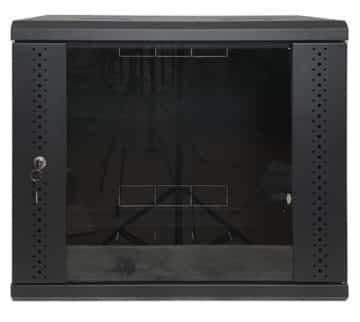 Шкаф 9U, EServer 600х500х503 (Ш*Г*В), стекло, черный