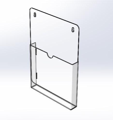 Карман настенный А5 формата 180 x 240 x 1.8 мм.