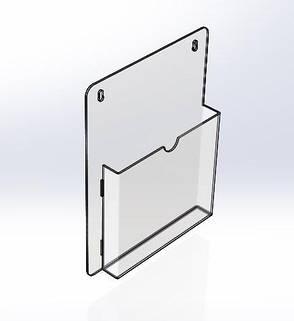 Карман настенный А5 формата 180 x 240 x 1.8 мм., фото 2