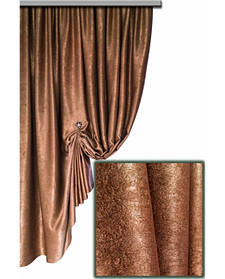 Штора Блекаут Соф коричневый- двухсторонняя 1221