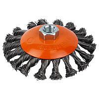 Щетка Sigma проволочная конусообразная Ø115мм М14×2мм (стальная витая) GRAD