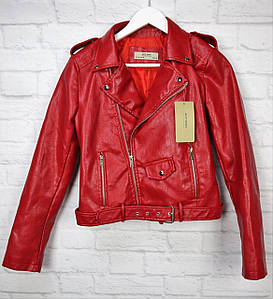 Модная женская куртка-косуха  из экокожи разных цветов 42-46 р