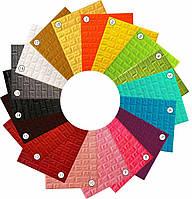 Самоклеючі 3Д панелі м'які під цеглу 77*70 см 7 мм 18 кольорів