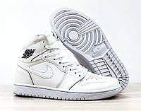 Кроссовки баскетбольные Nike Air Jordan Retro в стиле Найк ДжорДан, натуральная кожа код 4S-1182. Белые