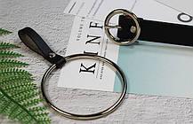 Ремень Пояс City-A Belt 105 см PU Кожа с подвеской Кольцом пряжка Кольцо Черный, фото 3