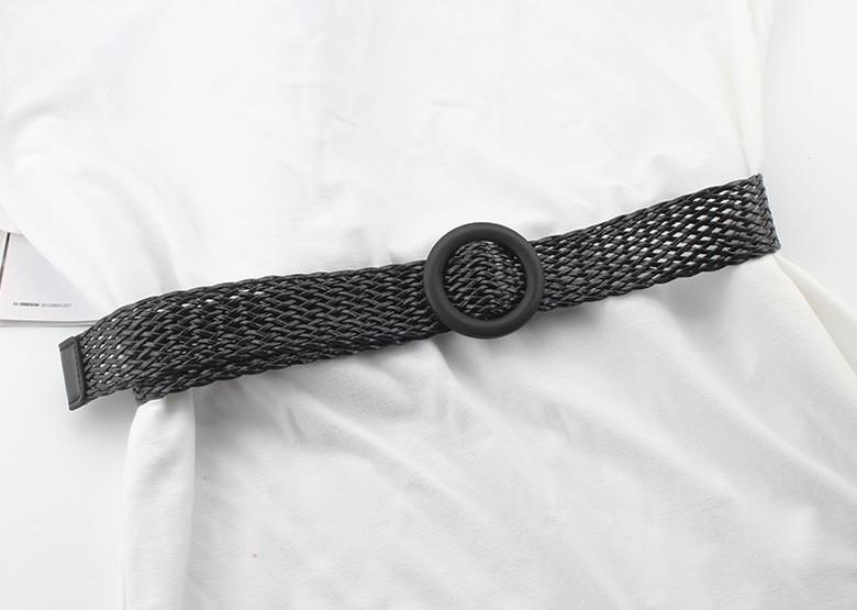Ремень Пояс City-A Belt 100 см Мягкий Пластик Плетенка Черный