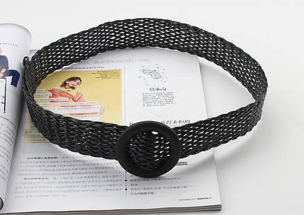 Ремень Пояс City-A Belt 100 см Мягкий Пластик Плетенка Черный, фото 2
