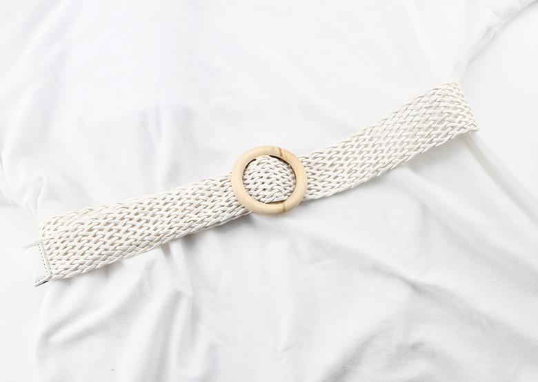 Ремень Пояс City-A Belt 100 см Мягкий Пластик Плетенка Белый