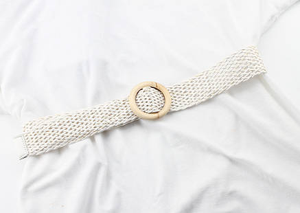 Ремень Пояс City-A Belt 100 см Мягкий Пластик Плетенка Белый, фото 2