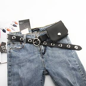 Ремень Пояс City-A Belt 100 см PU Кожа с Кошельком Черный, фото 2
