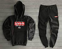 Спортивный мужской костюм Supreme (Супрем), черный, код OW-2025