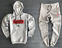 Спортивный мужской костюм Supreme (Супрем), серый, код OW-2033