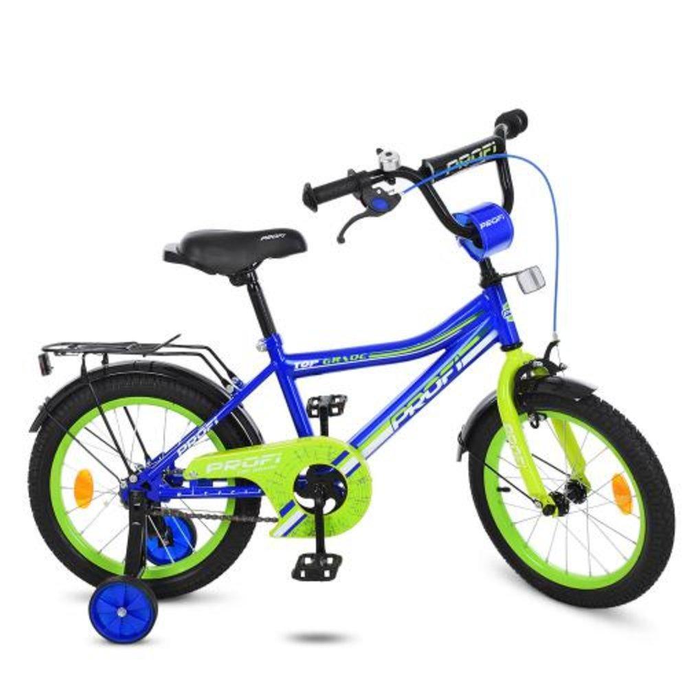 """Велосипед детский PROFI, колеса 16"""", Top Grade, синий,звонок,доп.колеса"""