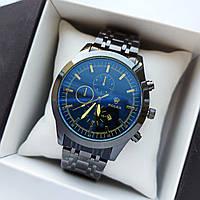 Мужские наручные часы Rolex (ролекс) черного цвета , антибликовое покрытие, дата - код 1719, фото 1