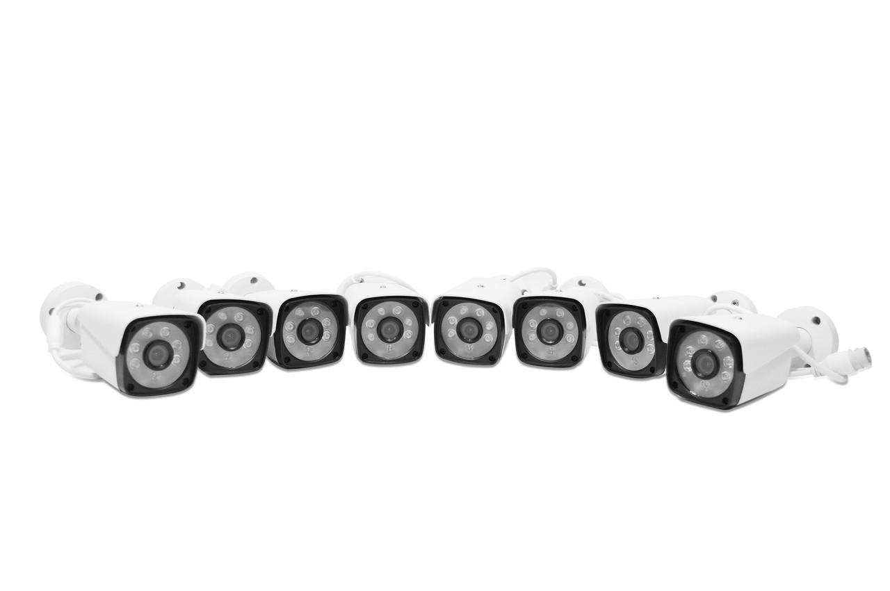Набір камер відео-спостереження 5G Kit (8 бездротових камер + мережевий відео реєстратор) WiFi 4ch NVR/DVR