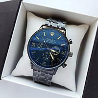 Чоловічі наручні годинники Rolex (ролекс) чорного кольору , антиблікове покриття, дата - код 1720