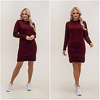Теплое, красивое вязаное платье, фото 1