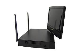 Видеонаблюдение беспроводной комплект Xanon JX-M1004IP WiFi набор на 4 камеры