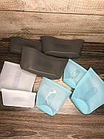 Набор многоразовых силиконовых сумок-пакетов на застежке, набор для хранения продуктов и вещей 8 шт