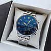 Чоловічі наручні годинники Rolex (ролекс), сріблясті з чорним циферблатом, антиблікове покриття, дата - код 1721