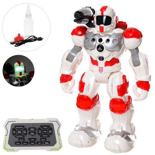 Детский робот на радиоуправлении 9088 брызгает водой, ходит, программируется со звуком и светом (высота 31 см)