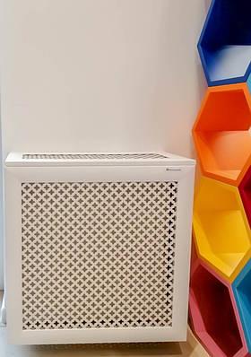 Короб на батарею Decorpaneli 60х60х17 см Белый