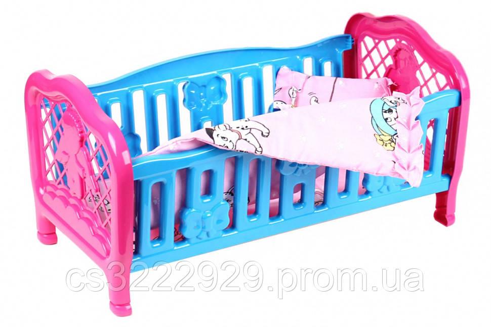 Кроватка для куклы 4494TXK (Голубая)
