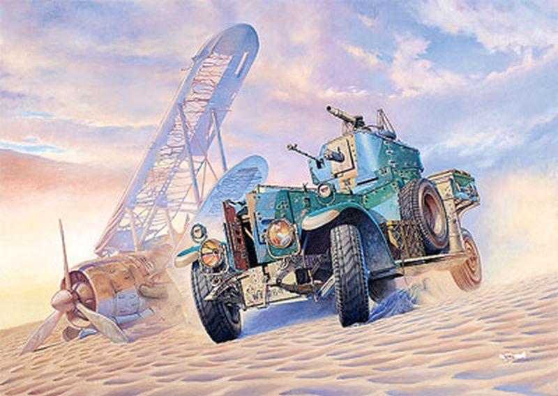 Британський бронеавтомобіль (модифікований зразок 1920 з пісочним шинами). 1/35 RODEN 802