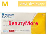 Перчатки виниловые М, прозрачные (100 шт.) без пудры, Safe Touch