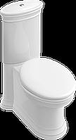 Villeroy & Boch AMADEA унитаз напольный, горизонт выпуск, белый альпин CeramicPlus (769510R1)