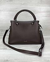 Коричневая женская сумка с длинным ремешком через плечо 32525, фото 1