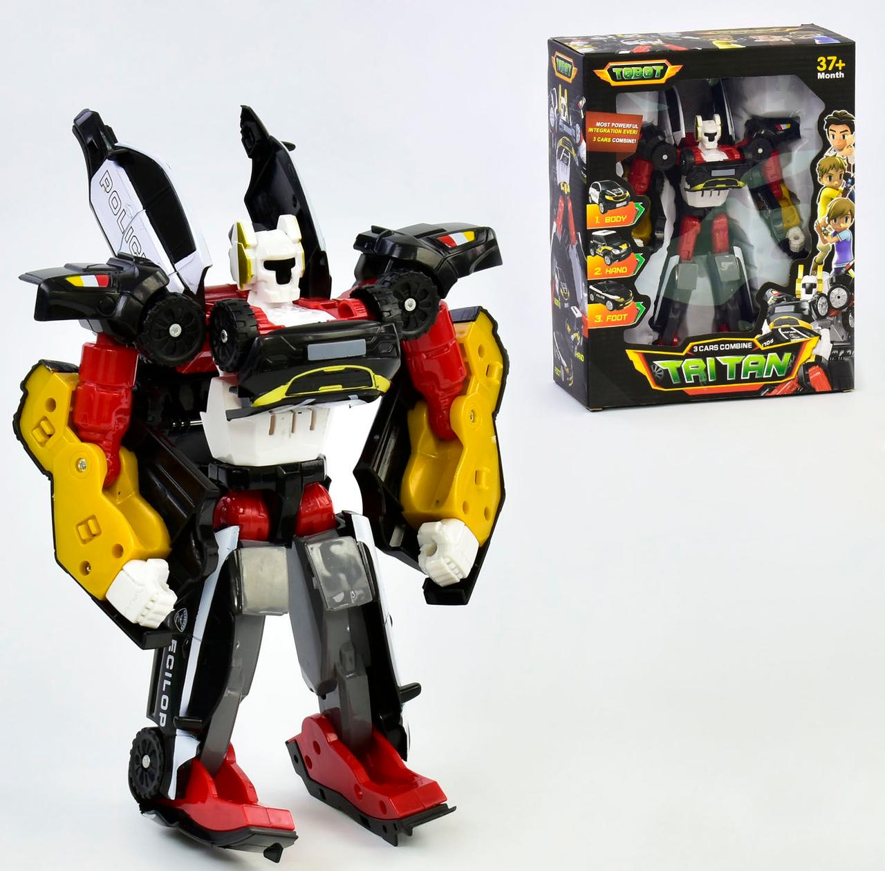 Робот машинка Трансформер для мальчика тобот Тритан Роботы трансформеры Игрушки роботы-трансформеры