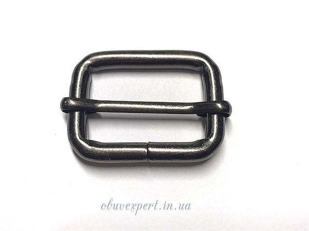 Рамка  с перемычкой 30*20 мм, толщ. 5 мм Черный никель, фото 2